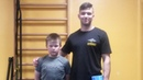 Присед 50 кг в 10 лет! A little 10 years old child squatted 50 kg without belt!