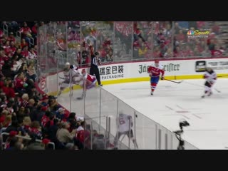 Tom Wilson ejected for hit to the head on Brett Seney