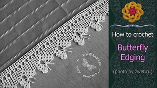 ♥ How to Crochet the Butterfly Edging • Free crochet tutorial & Chart • ellej.org