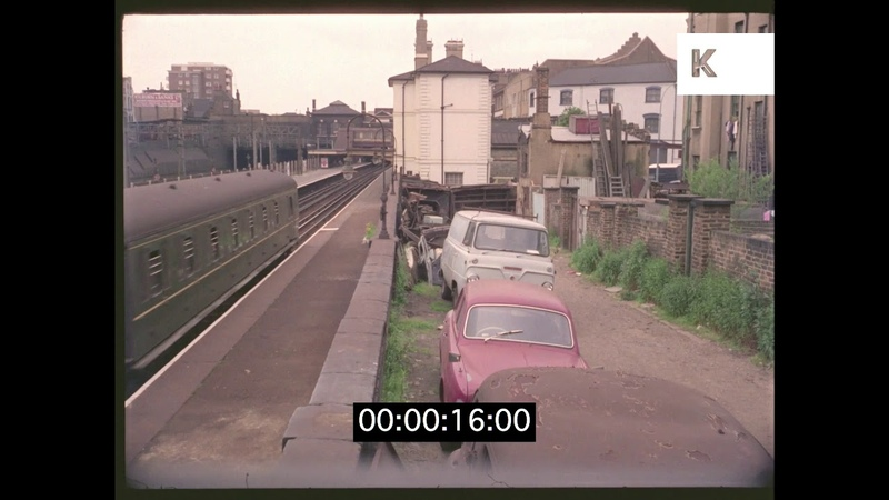 Run Down Train Platform, 1960s London in HD
