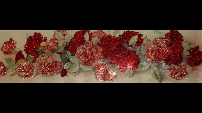 Алмазная вышивка «Розы». Часть 2/4. История алмазной мозаики. Diamond embroidery Roses.