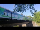 VR InterCity IC10 train Joensuu — Helsinki with Sr2 3227 loco near Lappeenranta station