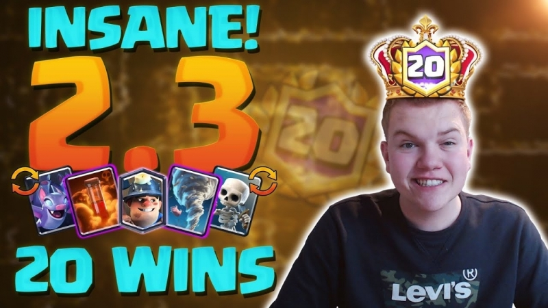 [Surgical Goblin] INSANE DECK! 20-0 2.3 Miner Cycle Deck Clash Royale League Challenge Gameplay!