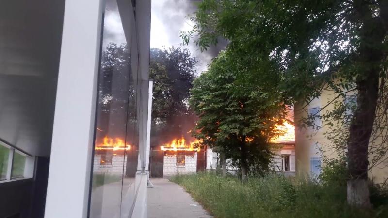 Видео пожара в центре Белгорода 23.06.2018