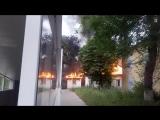 Видео пожара в наркологической клинике в центре Белгорода 23.06.2018