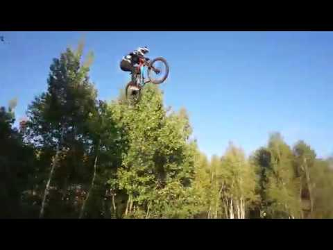 Overshooting a 70 ft jump on a bike