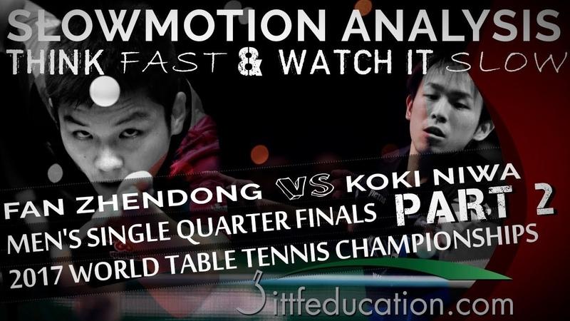 Slowmotion Analysis - Fan Zhendong VS Koki Niwa - Push Long
