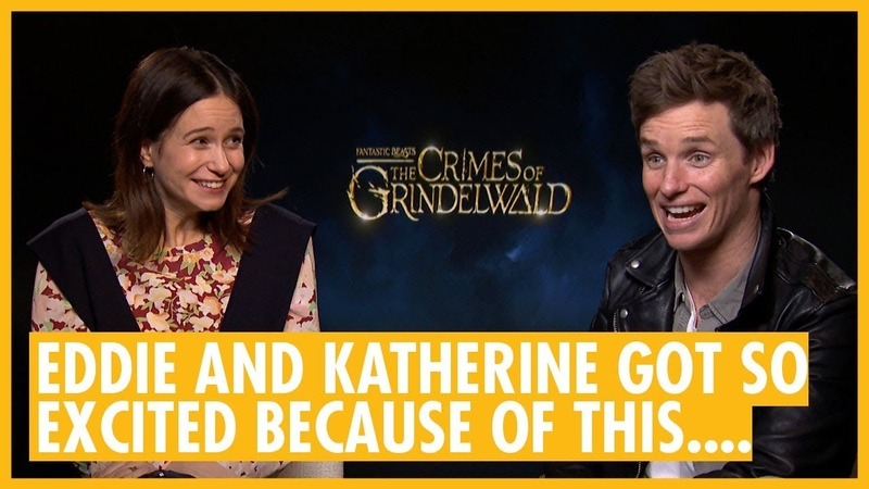 Potter Fan Interviews Eddie Redmayne, Katherine Waterston What They're Trying Not To Think About