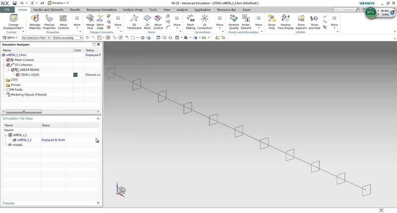 NX CAE How to do a Modal Analysis for a model with stress stiffening effect