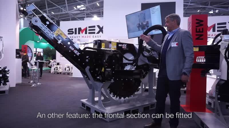 Новая циркулярная дорожная фреза Simex RWA 500 на выставке BAUMA 2019