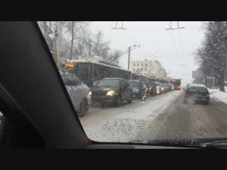 Ленина ДТП (пробка) 16.01.19 Киров