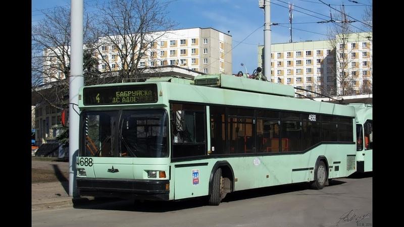 Троллейбус Минска БКМ-221,борт.№ 4688, марш.4 (21.01.2019)