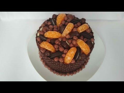 ШОКОЛАДНЫЙ Торт с МАНДАРИНОВЫМ Кремом. Вкуснота Домашний торт на праздник.Chocolate cake