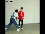Jinki fame punched Taemin and Taemin went straight to Danger choreo