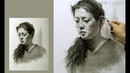 Girl Portrait Drawing in Graphite Pencil