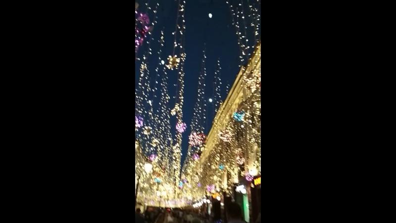 Волшебство вечернего города на Никольской (Москва)