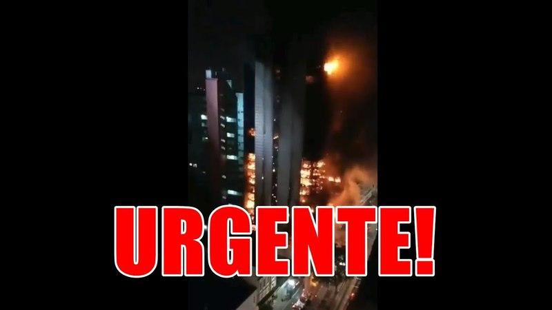 Novas imagens mostram prédio desabando no Largo do Paissandu em São Paulo