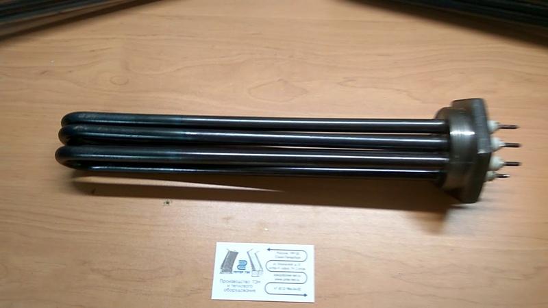 Обзор блок ТЭН ТЭНб 9 кВт из углеродистой стали на резьбовом фланце ПитерТЭН