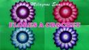 Flores tejidas a crochet para aplicar en centros de mesa y tapetes paso a paso