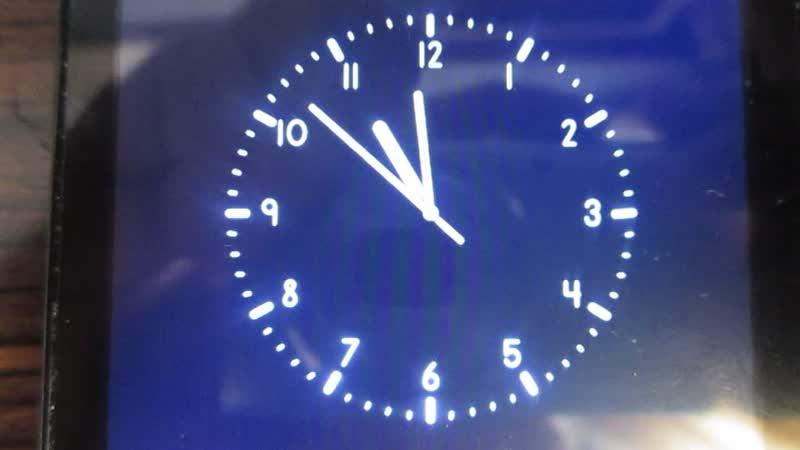 Реконструкция часов канала Звезда и начало новостей в 23 часа