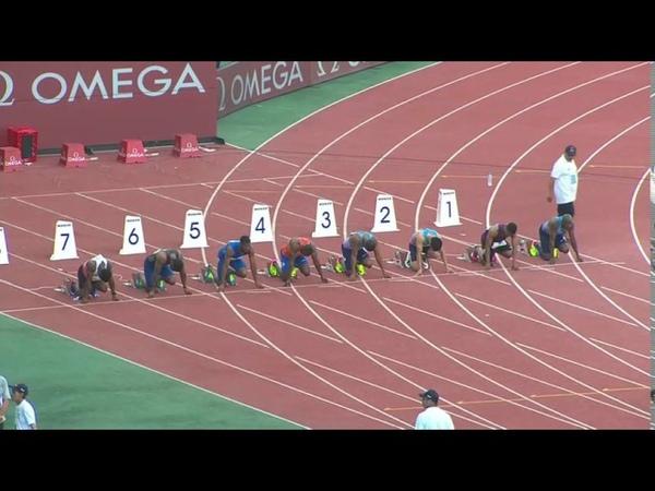 Mens 100m Diamond League Rabat 2017 English Commentary