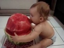 Naughty Kid Eating Water Melon like a Boss || Funny Toddler