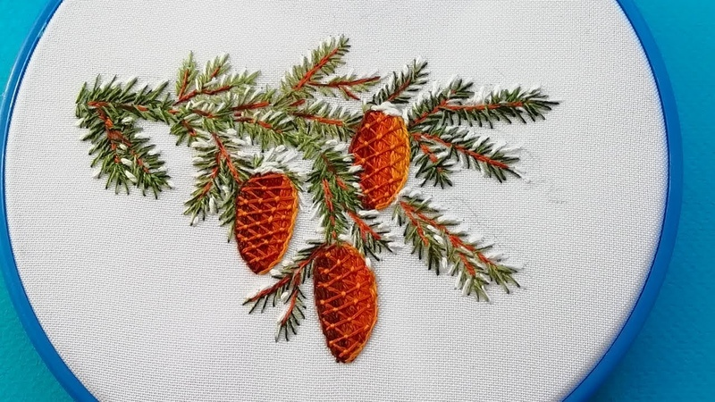 Hand embroidery Christmas embroidery Рождественская вышивка