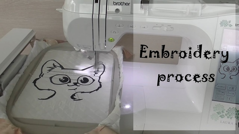 YourLuckyBag - The process of embroidery cat bag