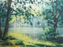 Пишем акрилом лесную лужайку Vitali Painting