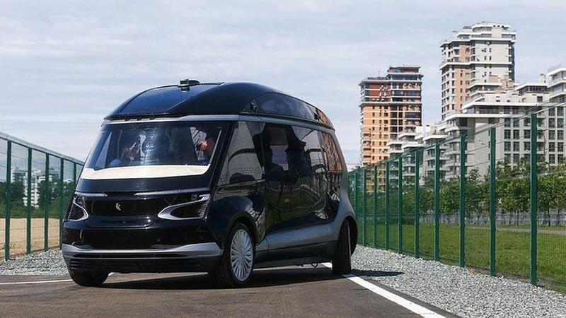 КАМАЗ представил беспилотный электробус КАМАЗ-1221 Ш.А.Т.Л.