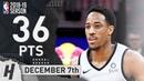 DeMar DeRozan Full Highlights Spurs vs Lakers 2018 12 07 36 Pts 9 Ast 8 Rebounds