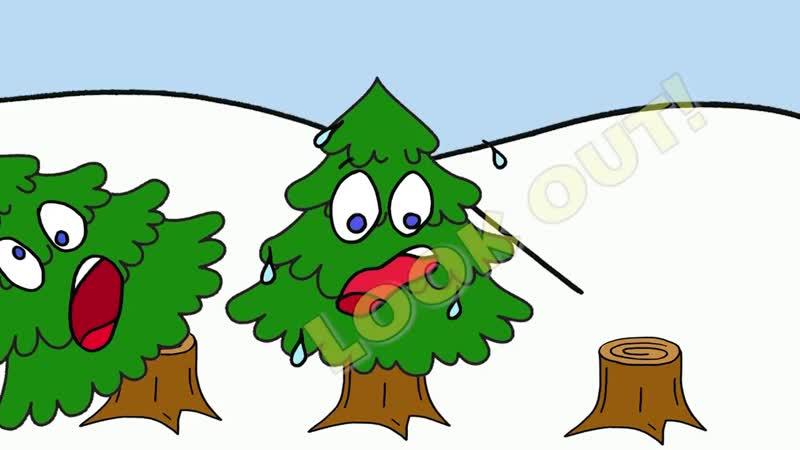 Three Christmas Trees - Christmas Songs for Kids