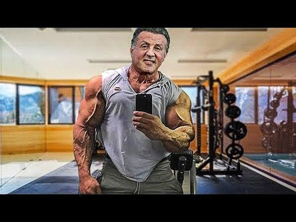 Сильвестер СТАЛЛОНЕ в 72 года в ОЧЕНЬ КРУТОЙ ФОРМЕ - Бодибилдинг мотивация