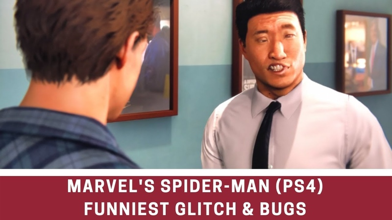 Marvels Spider-Man (PS4) 2018 Funniest Glitch Bugs