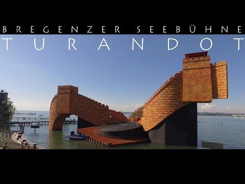 BREGENZER FESTSPIELE - Puccinis Turandot 2016 4K Nessun Dorma Seebühne Aerial View DJI Phantom OSMO