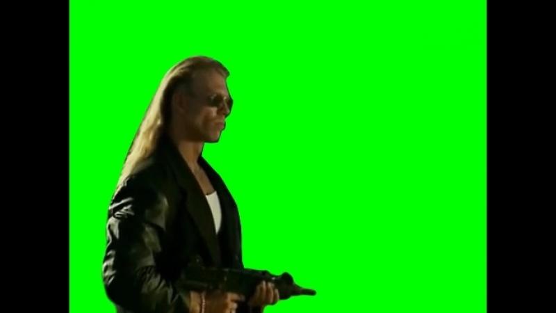 Gachimuchi Kazuya as a bandit on a green screen Казуя в роли бандита на зелёном экране