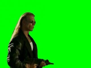 [Gachimuchi] Kazuya as a bandit on a green screen (Казуя в роли бандита на зелёном экране)