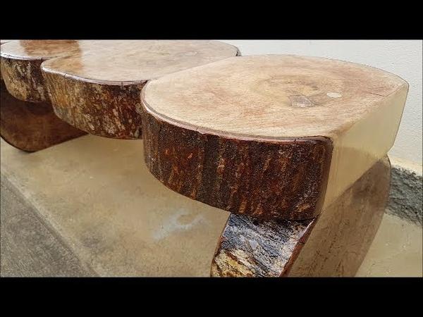 Trabalho Rústico com bolachas de madeira, Simples e Fácil