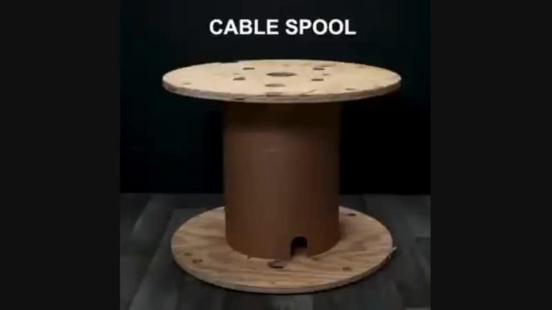Несколько идей применения катушки из кабеля - Маленькие хитрости / Домашний лайфхак