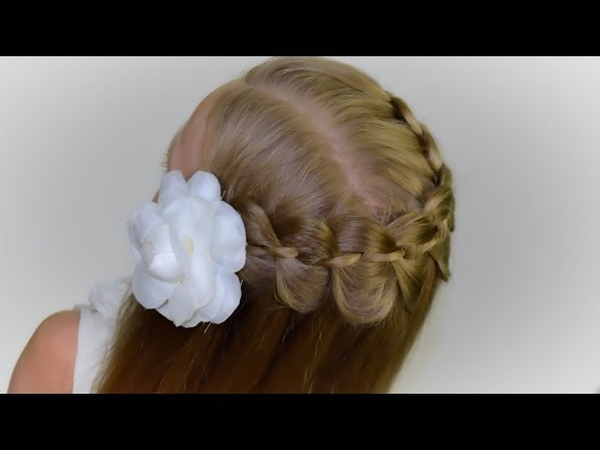 🎀BACK TO SCHOOL🎀4-Strand Waterfall Braid |DIY tutorial. Quick and Easy hairstyle for girls 48