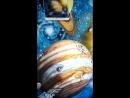 Роспись стены на Космический лад