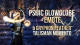 ESO Summerset - Psijic Glowglobe Emote &amp Gryphon Feather Talisman Memento