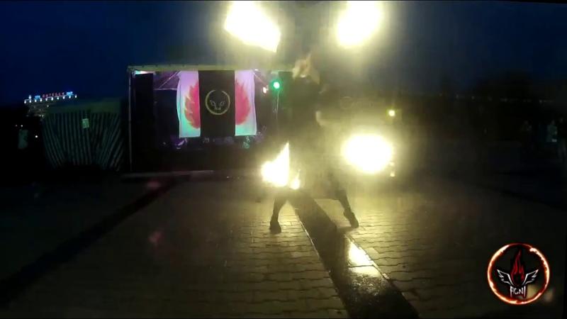 Номер Крэш от фаер-шоу AGNI show Витебск, фестиваль На семи ветрах 2017