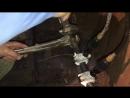 Заморозка воды в трубе во время замены крана