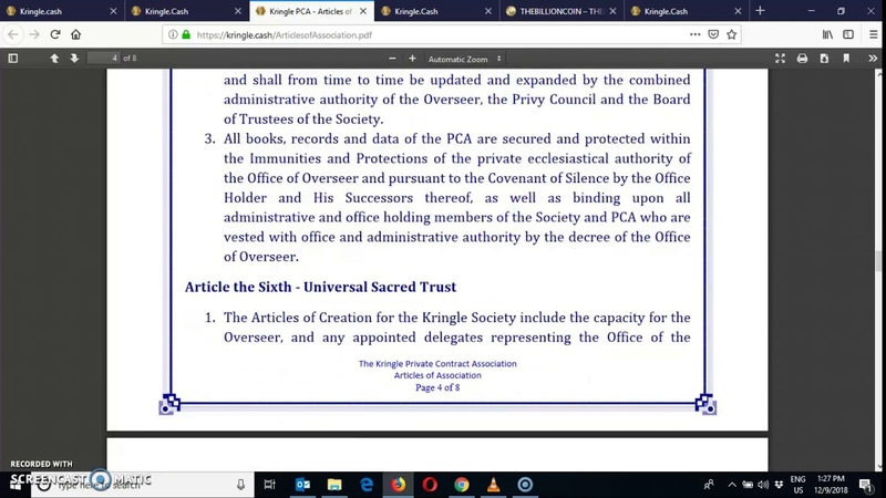 Update 28 - Kringle Society PCA - Articles of Association