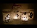 Tutorial riciclo creativo barattoli vasi di vetro in lanterne effetto ghiaccio neve Halloween Natale