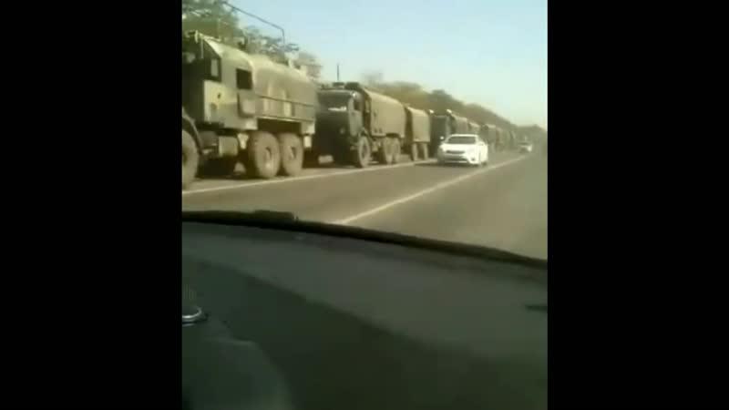 На Кавказе что-то начинается. Огромная колонна военных движется в сторону Ингушетии