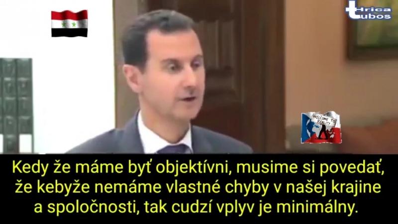 Rozhovor s Prezidentem Sýrie Basharem al-Asadem, o tom co si myslí o chemickém útoku a o bombardování Sýrie Francií, Anglií a US
