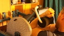 Michael Gundill performs super slow biceps curls on a Nautilus machine