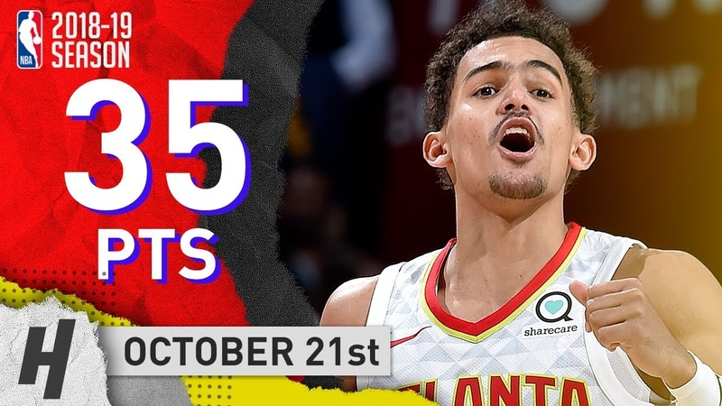 Trae Young CRAZY Full Highlights Hawks vs Cavaliers 2018.10.21 - 35 Points, 11 Ast
